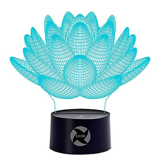 le3d 3D optische Illusion Nachtlicht–7LED Farbwechsel Licht Farben–für Ihre Schlafzimmer | Büro Set–Weiches Cool Light ist sicher für Kinder–viele verschiedenen ein besonderes Geschenk Kinder