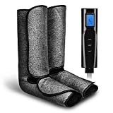 Leg Massager for Circulation with Heat, Air Compression Foot Massage Handheld Controller with 3 Mode 3 Intensities Calf Massage for Foot Circulation and Relaxation Father's Day Gifts for Women