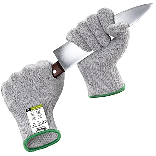 Twinzee Cut Resistant Kitchen Gloves - High Performance Level 5 Protection, Food Grade, EN 388 Certified, 1 pair (M)