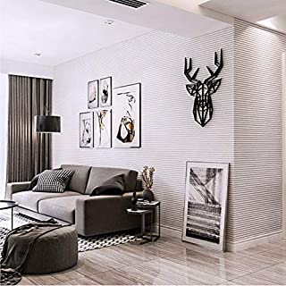 Sssxka Black and Grey Vertical Striped Wallpaper Black White Concept Horizontal Stripes Wall Paper Roll for Living Room Bedroom Office Bedroom Creative Sticker