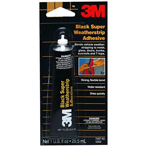 3M Black Super Weatherstrip Adhesive, 03602, 1 oz