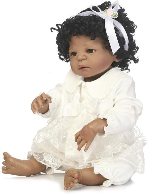 GHCX Silikon-Simulation Reborn Puppe Schwarze Haut Baby Kann Das Wasser Begleiter Spielzeug Baby Kreative Persönlichkeit Geschenk 56CM B07GBTDPZF Die erste Reihe von umfassenden Spezifikationen für Kunden | Hochwertige Produkte