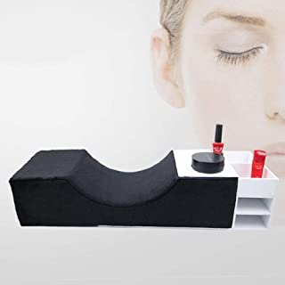 Eyelash Extension Neck Pillow Memory Foam Pillow Beauty Salon Pillow Grafting Eyelash Curve Pillow Neck Contour Pillow Improve Sleeping Support Protection Neck [eyelash cabinet(NOT INCLUDE)]