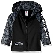 includes one officially licensed Seattle Seahawks hooded jacket 100% poly surgent fleece Seahawks logo with screenprint Brand name: NFL