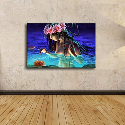 Liluozsh Kunstdruk op canvas, cartoon slinger, slinger, zwemmen, kunst, moderne foto's, HD schilderkunst voor woonkamer, home decoratie, kunst prints 30×50cm Zoals getoond