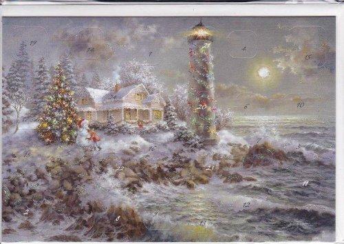 KORSCH VERLAG Adventskalenderkarte Leuchtturm 9783782750981