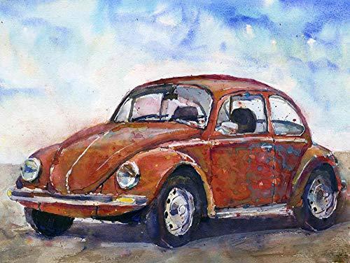 Bunte Malerei Auto Acryl ?lfarben nach Zahlen Handgemalt DIY DIY Leinwand gemalt Geschenk Home Wanddekoration 40x50 cm