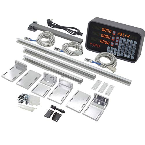 Find Discount 3 Axis M-DRO Lathe Digital Readout Package including 350mm, 450mm and 750mm Cut to Len...