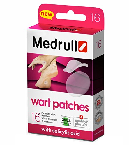Medrull Wart Remover Pads 16 Piezas Stop Verrugas