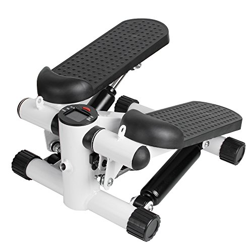 funchic Mini Stepper, Portable Stepper Mini Exercise Machine Multi Functional Stepping Machine with Bands for Office and Household Use (Shipping from US)
