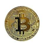 TOSSPER Monedas Conmemorativas bit 1pc Color De Oro De Bitcoin Moneda De Colección De Regalos De La Moneda BTC Físicos En Protectora del Coleccionable De Regalo