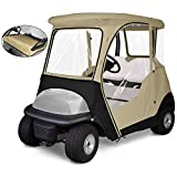KAKIT 800D Fairway 4-Sided 2-Person Golf Cart Enclosure Custom fit Club Car Precedent 2000-2019, Seat Cover Included