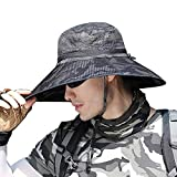 SIYWINA Hombres Sombrero de Pescador para el Sol Protección UV Deporte al Aire Libre