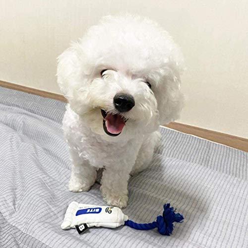 DINEGG Hunde Plüschtiere Hot Style Koreanische Zahnpasta Spielzeug Hund Plüschtier Plüsch Essen Hundespielzeug mit lustigen Sound Cat Puppy Kau Interaktives Spielzeug YMMSTORY