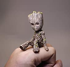 JSV-anime Tree Man Baby Groot Action Figures Doll Guardians of The Galaxy 2 Cute Model Toy Keychain Cool Best Gifts (Sitting Position)