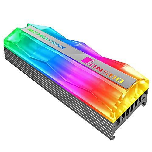 Jonsbo M.2-2 Mirage Edition M.2 SSD Passivkühler für M.2 SSDs - addressiebare RGB-Beleuchtung - Grau
