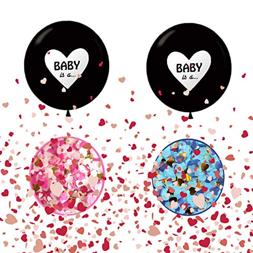 JIASHA Palloncino Gigante, Baby Shower Balloon, Boy or Girl Banner, Gender Reveal Party Kit, Genere Rivela i Palloncini del Partito,Boy or Girl Balloon Baby Shower Party Palloncino