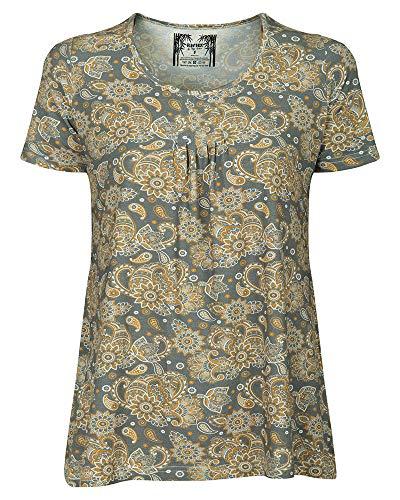Elegante Tunika, Bluse für Damen Eco-Bamboo, nachhaltig, antiallergen und atmunsaktiv (XXXL/46, Gelb)