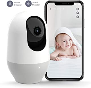 Nooie Baby Monitor, WiFi Pet Camera Indoor, 360-degree Wireless IP Nanny Camera, 1080P..