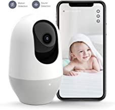 Nooie Baby Monitor, WiFi Pet Camera Indoor, 360-degree Wireless IP Camera, 1080P Home..