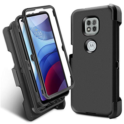 Venoro Compatible with Moto G Power 2021 Case Heavy Duty Shockproof Full Body Protection Kickstand Case Cover with Swivel Belt Clip for Moto G Power 2021 (Moto G Power, 6.6'')