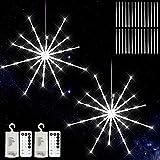 Fuochi d artificio Luci AONESY Starburst Luci da esterno Luci natalizie Luci da esterno Alimentate a batteria 8 modalità Luci a corda con telecomando e timer per giardini di Natale all aperto
