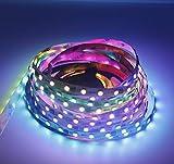 Digital RGB LED tira 300 LED, conexión Bluetooth y control de aplicaciones SMD 5050 cambio de...