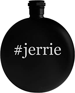 #jerrie - 5oz Hashtag Round Alcohol Drinking Flask, Black