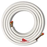 25 Ft 1/4' x 3/8' Line Set for Ductless Mini Split Air Conditioner Heat Pump Systems
