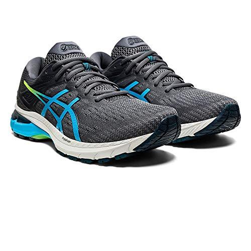 ASICS Herren GT-2000 9 Road Running Shoe, Carrier Grey/Digital Aqua, 48 EU