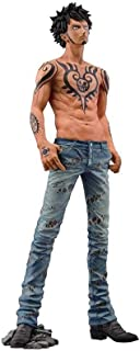 Wsjdmm One Piece Trafalgar Law/Trafalgar D Water Law Handsome Standing Posture Modeling Luo Tattoo Naked PVC Hand Model Doll Ornaments Birthday Gift Beautiful Boxed 23cm High