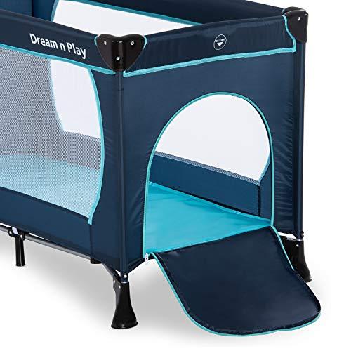 Hauck Kinderreisebett Dream N Play Plus, inkl. Hauck Reisebettmatratze, tragbar und klappbar, 120 x 60 cm, blau - 10