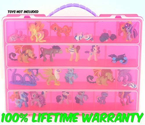 Life Made Better Pink My Little Pony Case, Display Case for Kids. Figurines Organizer (Pink)