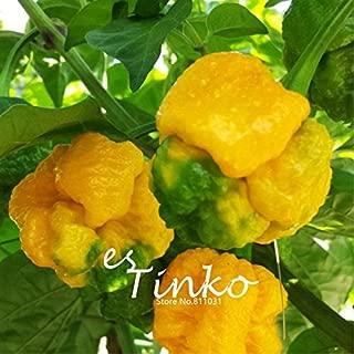 50pcs Yellow Trinidad Scorpion Seeds Rare Pepper Chili Seeds Bonsai Seeds Potted Plant DIY