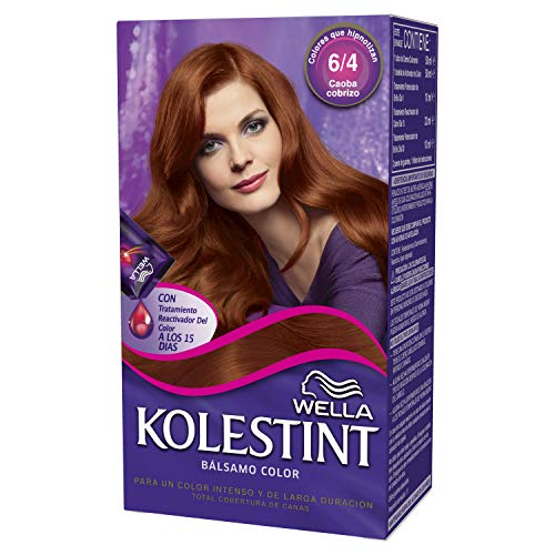 Wella Kolestint Tinte De Cabello Kit, Tono 64 Caoba Cobrizo 210 g