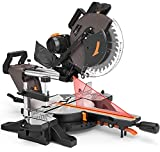 Compound Miter Saw, TACKLIFE 12-Inch, 15 AMP Double Sliding Miter Saw,...