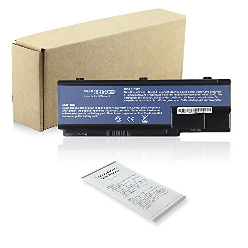 Bay Valley PartsLi-ion 8-Cells 14.8V 5200mAh New Extended Replacement Laptop Battery compatible with ACER 1010872903 934T2180F AS07B31 AS07B32 AS07B41 AS07B42 AS07B51 AS07B52 AS07B71 AS07B72 AS-2007B B053R012-9002 BT.00603.033 BT.00603.042 BT.00604.018 BT.00604.025 BT.00605.015 BT.00605.021 BT.00607.010 BT.00607.016 BT.00803.024 BT.00804.020 BT.00804.024 BT.00805.011 BT.00807.014 BT.00807.015 BTP-AS5520G ICK70 ICL50 ICW50 ICY70 JDW50 LC.BTP00.007 LC.BTP00.008 LC.BTP00.013 LF1 MS2221 ZD1