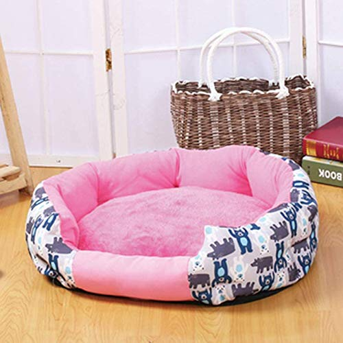 XINGYU Dog Bed, Oval Calming Bed Soft Plush Pet Cat Nest with Waterproof Non Slip Bottom Breathable Kennel Washable Reversible Cushion Fluffy PP Cotton Pet Lounger