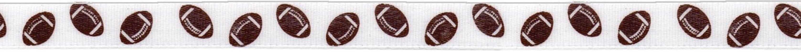 Offray Sport Icon Craft Ribbon, 3/8-Inch x 12-Feet, Football