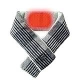 Heated Scarf, USB Heat Shawl Electric Warm Neck Wrap with 3000mAh Powerbank【Grey】