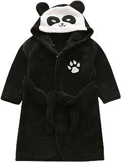 cea0e3684c4fc LPATTERN Enfant Fille Garçon Robe de Chambre Polaire Robe de Bain Doux  Flanelle Chemise de Nuit