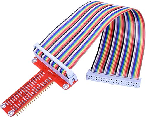 Placa de expansão RPi GPIO Pastall + cabo de fita + adaptador GPIO tipo T montado 20 cm FC40 40 cabo de fita plana para Raspberry Pi 4B/3B/2/1/zero
