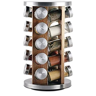 Orii GSR3519-L Rotating Spice Rack, Light natural wood