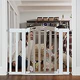 Puerta de seguridad infantil para puertas y escaleras, Gris lavado y blanco, 28.5-42 Inch