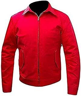 James Dean Rebel Without a Cause Jim Stark Men's Red Cordura Jacket