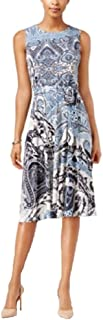 Charter Club Petite Printed Fit & Flare Dress