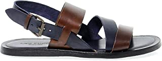 LEO PUCCI Luxury Fashion Mens 5876BROWN Brown Sandals | Season Outlet