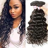 Beauty Forever 10A grade Brazilian Natural Wave Hair 3 Bundles Unprocessed Virgin Human Hair Extensions Weave Natural Color (12 14 16)