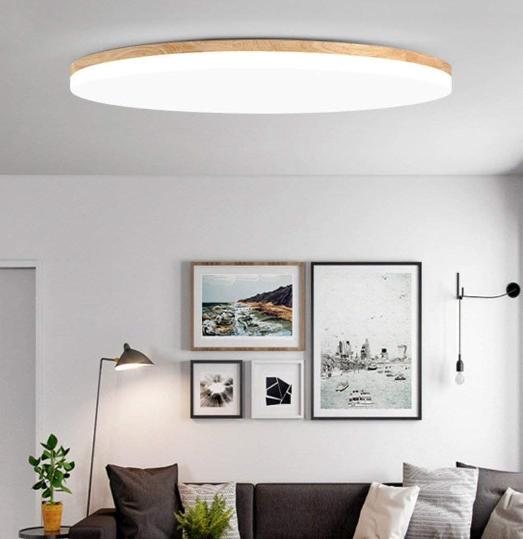 FuweiEncore Nordic schlank led 24w deckenleuchte runde einfache Moderne Schlafzimmer Wohnzimmer Lampe protokoll Wohnzimmer Balkon Studie Lampe, a, 38  5 cm (Farbe   A, Gre   38  5cm)