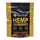 Goldline Hemp Gummies - 5 Gummy Bears -Stress, Insomnia & Anxiety Relief - Made in Colorado - Tasty & Relaxing Herbal Gummies - Premium Extract